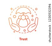 trust concept icon. defence ... | Shutterstock .eps vector #1230532396