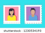 bloggers profile of users... | Shutterstock .eps vector #1230534193