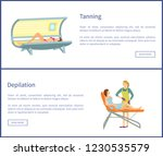 tanning and depilation web... | Shutterstock .eps vector #1230535579