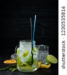 lemonade with menthol and lime. ... | Shutterstock . vector #1230535816