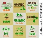 set of organic food  farm fresh ... | Shutterstock .eps vector #1230538066