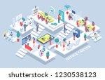 office center  people working... | Shutterstock .eps vector #1230538123