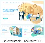 project management construction ... | Shutterstock .eps vector #1230539113