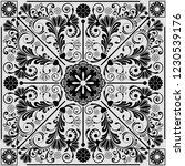 vector vintage floral ...   Shutterstock .eps vector #1230539176