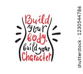 build your body build your... | Shutterstock .eps vector #1230544786