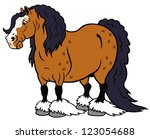 alone,animal,breed,brown,caricature,cartoon,clydesdale,comic,domestic,draft,equestrian,equine,farm,heavy,horse