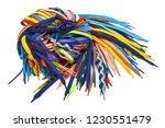 multi colored shoe laces are a... | Shutterstock . vector #1230551479