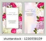 vector banners set with roses ... | Shutterstock .eps vector #1230558109