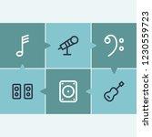 audio icon set and megaphone...