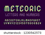 meteoric letters and numbers... | Shutterstock .eps vector #1230562573