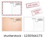 postcard. air mail. postal card ...   Shutterstock .eps vector #1230566173