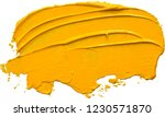 yellow oil paint brush stroke.... | Shutterstock .eps vector #1230571870