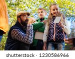 biology lesson. nice cheerful...   Shutterstock . vector #1230586966