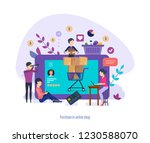 purchase in online shop.... | Shutterstock .eps vector #1230588070