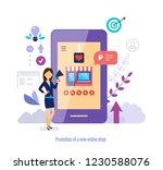 promotion of new online shop.... | Shutterstock .eps vector #1230588076