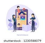 people read breaking news.... | Shutterstock .eps vector #1230588079