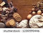 homemade delicious cookies and... | Shutterstock . vector #1230590446