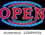 signs light the letter  open  | Shutterstock . vector #1230594556