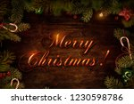 merry christmas greeting card | Shutterstock . vector #1230598786