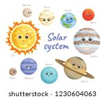 solar system planets isolated... | Shutterstock .eps vector #1230604063