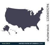 united states of america  usa  ... | Shutterstock .eps vector #1230605296