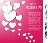valentines day paper heart...   Shutterstock .eps vector #123060793