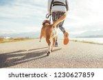 female starting the morning... | Shutterstock . vector #1230627859
