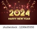 happy new year 2024 design. | Shutterstock .eps vector #1230635350