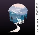 merry christmas  happy new year ...   Shutterstock .eps vector #1230637396
