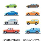 set of personal cars. set of... | Shutterstock .eps vector #1230640996