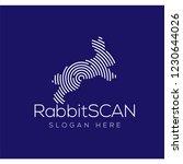 rabbit scan technology logo...   Shutterstock .eps vector #1230644026