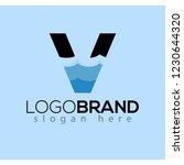 v letter and creative wave logo ...   Shutterstock .eps vector #1230644320