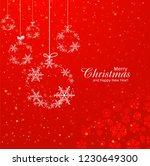 beautiful merry christmas... | Shutterstock .eps vector #1230649300