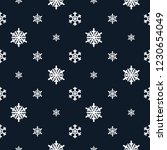 christmas snowflakes seamless... | Shutterstock .eps vector #1230654049