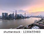 shanghai skyline and cityscape... | Shutterstock . vector #1230655483