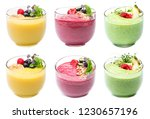 smoothie in glass isolated on a ... | Shutterstock . vector #1230657196