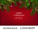 christmas card with a... | Shutterstock .eps vector #1230658009
