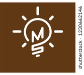 ms initial letter with creative ... | Shutterstock .eps vector #1230662146