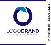 o letter snake logo icon vector ... | Shutterstock .eps vector #1230662296