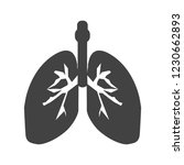 lungs glyph black icon | Shutterstock .eps vector #1230662893