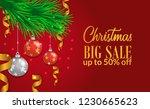 christmas sale banner template... | Shutterstock .eps vector #1230665623