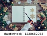 stylish christmas branding... | Shutterstock . vector #1230682063