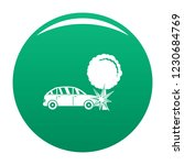 crashed tree icon. simple... | Shutterstock .eps vector #1230684769