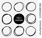 vector hand drawn circles... | Shutterstock .eps vector #1230688186