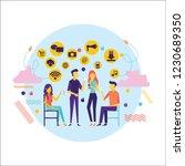 flat design of people addicted... | Shutterstock .eps vector #1230689350