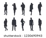 silhouettes of people. vector... | Shutterstock .eps vector #1230690943