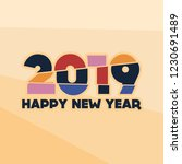 happy new year 2019 | Shutterstock .eps vector #1230691489