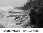 storm punishes the coast of... | Shutterstock . vector #1230694003