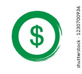 dollar icon emblem  label ... | Shutterstock .eps vector #1230700936