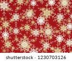 2d illustration. snowflakes on ... | Shutterstock . vector #1230703126